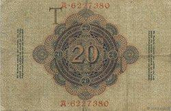 20 Mark ALLEMAGNE  1907 P.028 TTB