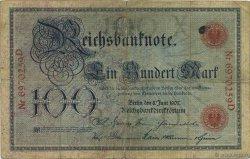 100 Mark ALLEMAGNE  1907 P.030 TB