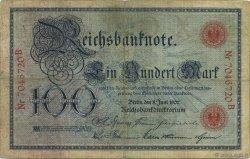100 Mark ALLEMAGNE  1907 P.030 TB+
