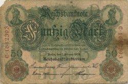 50 Mark ALLEMAGNE  1908 P.032 B