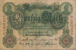 50 Mark ALLEMAGNE  1908 P.032 TB+