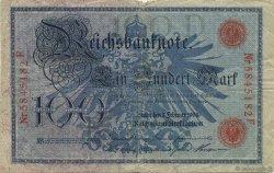 100 Mark ALLEMAGNE  1908 P.033a B