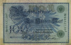100 Mark  GERMANY  1908 P.034