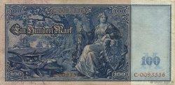 100 Mark ALLEMAGNE  1908 P.035 TTB+
