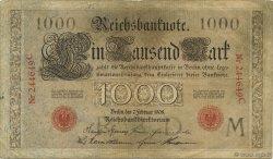 1000 Mark ALLEMAGNE  1908 P.036 TTB
