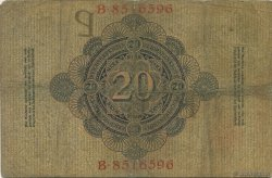 20 Mark ALLEMAGNE  1909 P.037 pr.TB
