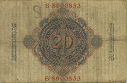 20 Mark ALLEMAGNE  1909 P.037 TB+