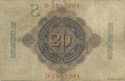 20 Mark ALLEMAGNE  1909 P.037 TTB