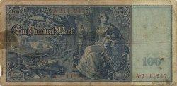 100 Mark ALLEMAGNE  1909 P.038 B+