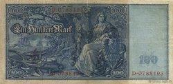 100 Mark ALLEMAGNE  1909 P.038 TTB