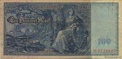 100 Mark ALLEMAGNE  1909 P.038 TTB+