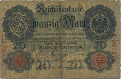 20 Mark ALLEMAGNE  1910 P.040a B