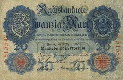 20 Mark ALLEMAGNE  1910 P.040a TB+