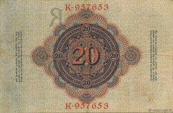 20 Mark ALLEMAGNE  1910 P.040a TTB