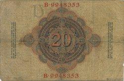 20 Mark ALLEMAGNE  1910 P.040b B