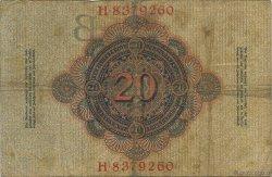 20 Mark ALLEMAGNE  1910 P.040b TB