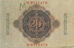 20 Mark ALLEMAGNE  1910 P.040b TTB+