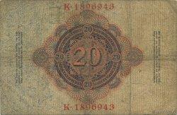 20 Mark ALLEMAGNE  1910 P.040c TB