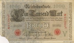 1000 Mark ALLEMAGNE  1910 P.044a TB