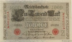 1000 Mark GERMANY  1910 P.044b AU
