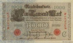 1000 Mark ALLEMAGNE  1910 P.044b pr.NEUF