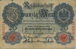 20 Mark ALLEMAGNE  1914 P.046a TB+