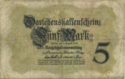 5 Mark ALLEMAGNE  1914 P.047a TB