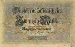 20 Mark ALLEMAGNE  1914 P.048a TTB à SUP