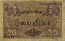 20 Mark ALLEMAGNE  1914 P.048b TB