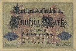 50 Mark  ALLEMAGNE  1914 P.049a