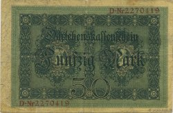 50 Mark  ALLEMAGNE  1914 P.049b TB