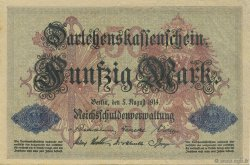 50 Mark  ALLEMAGNE  1914 P.049b SUP