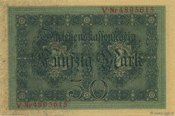 50 Mark GERMANY  1914 P.049b UNC-