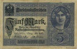5 Mark ALLEMAGNE  1917 P.056a TTB
