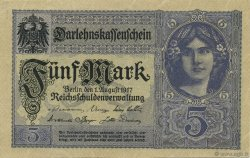 5 Mark ALLEMAGNE  1917 P.056b SUP+