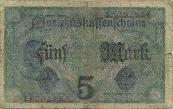 5 Mark ALLEMAGNE  1917 P.056b B