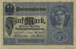 5 Mark ALLEMAGNE  1917 P.056b SUP