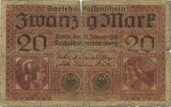 20 Mark ALLEMAGNE  1918 P.057 B