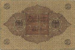 2 Mark ALLEMAGNE  1920 P.060 B