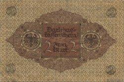 2 Mark ALLEMAGNE  1920 P.060 TB
