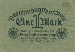 1 Mark ALLEMAGNE  1922 P.061a SUP+