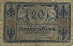 20 Mark ALLEMAGNE  1915 P.063 AB