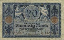20 Mark ALLEMAGNE  1915 P.063 TTB