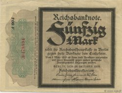 50 Mark ALLEMAGNE  1918 P.064b SUP