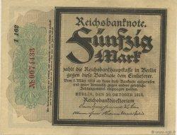 50 Mark ALLEMAGNE  1918 P.064b pr.NEUF