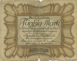 50 Mark ALLEMAGNE  1918 P.065 AB