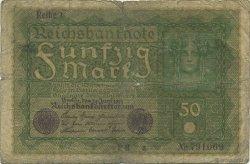 50 Mark ALLEMAGNE  1919 P.066 AB