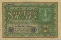 50 Mark  ALLEMAGNE  1919 P.066 SUP