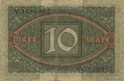 10 Mark ALLEMAGNE  1920 P.067a TTB