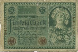50 Mark ALLEMAGNE  1920 P.068 B